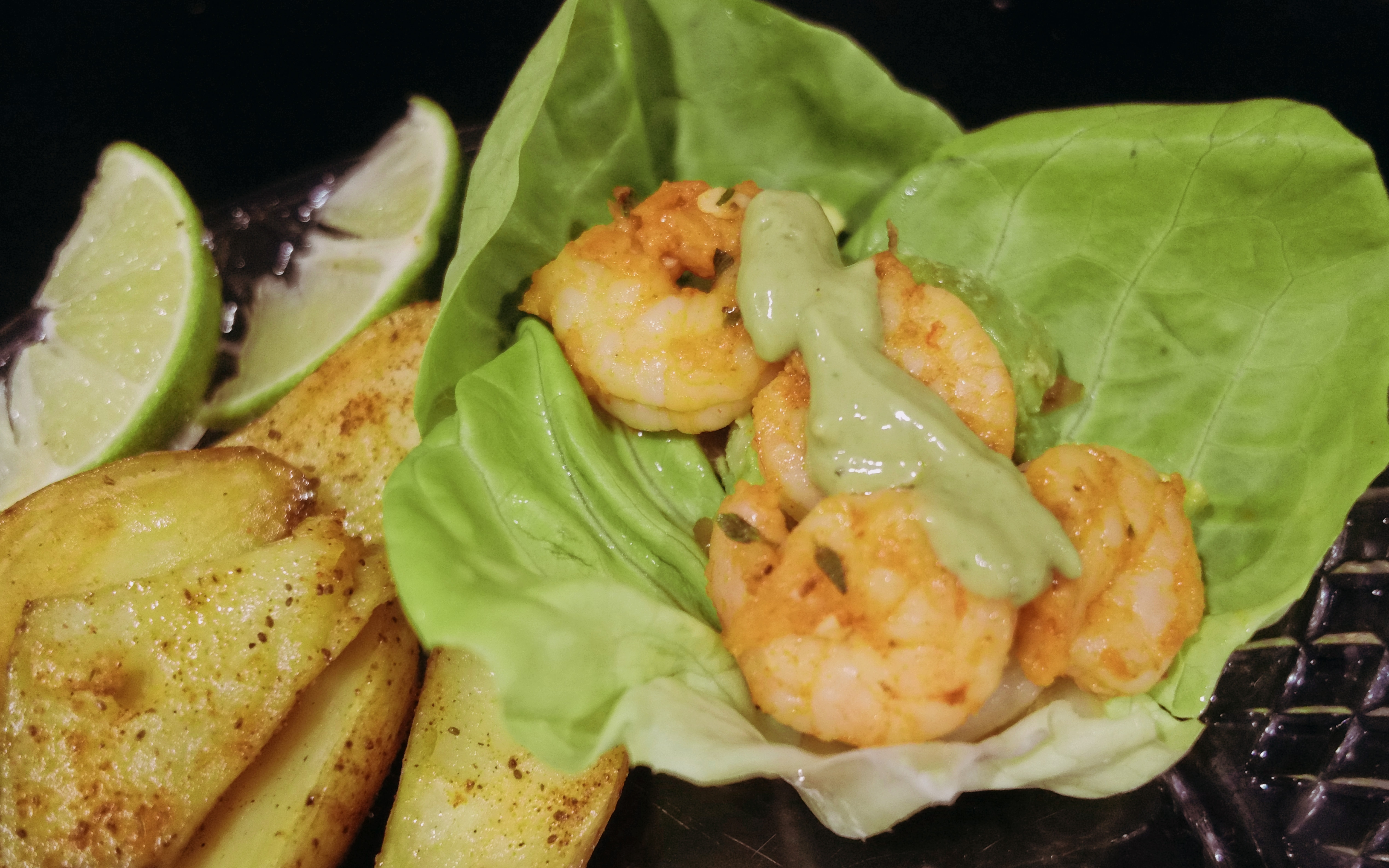 Garlic Butter Shrimp Wrap